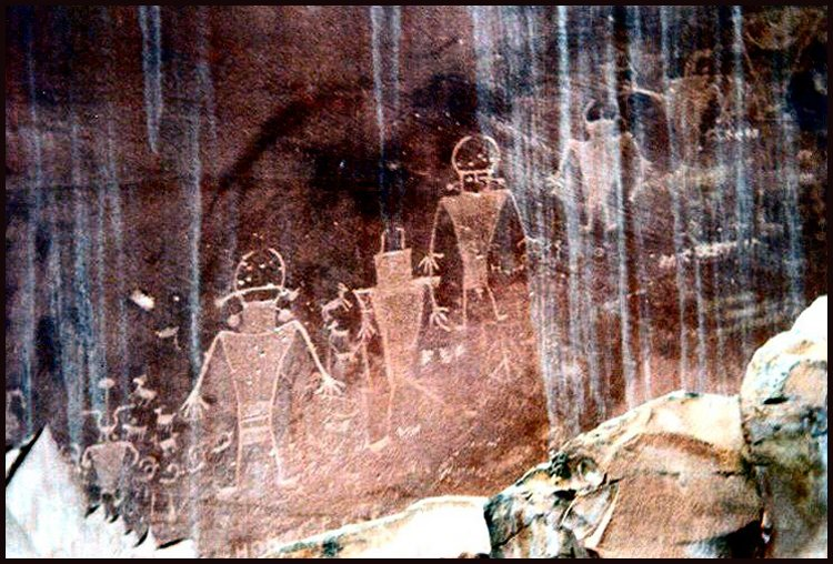 Petroglyphs near Zion Canyon